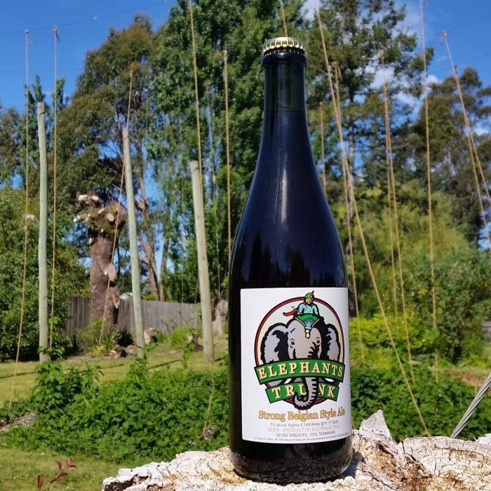 A bottle of Elephants Trunk strong Belgian ale